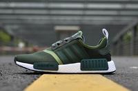 Adidas ผู้ชาย NMD RUNNER Boost รองเท้าวิ่งรองเท้ากีฬาแฟชั่น (สีเขียว)