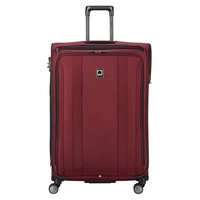 DELSEY Paris Delsey Luggage Titanium Soft Expandable 29 Inch Spinner, Black Cherry Red