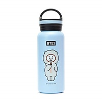 [sb]BT21 BTS Official Merchandise by Line Friends - RJ 16-Ounce Vaccum Drinking Tumbler with Lid, Or