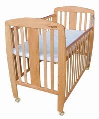 *美馨兒*Mambab夢貝比 櫸木中床 原木嬰兒床 5990元+贈兩用3D立體加厚天然乳膠床墊(值3500元)(無法超商取貨)_