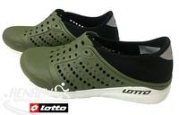 LOTTO 男鞋 透氣洞洞鞋 (軍綠) 透氣排水運動拖鞋 懶人鞋  LT7AMS5365【 胖媛的店 】