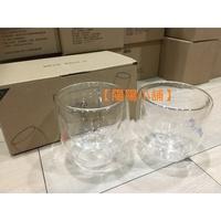 【陽陽小舖】《股東會紀念品》雙層玻璃杯兩個(無把手)(瑞軒)