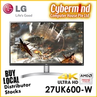 """LG 27UK600-W 27"""" 4K IPS Monitor with HDR 10 (Local Distributor Stocks / LG Singapore on-site warranty)"""