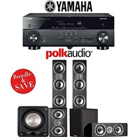 (Polk Audio) Polk Audio TSi 500 5.1-Ch Home Theater Speaker System with Yamaha AVENTAGE RX-A670BL...