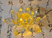 [菲麗雅精品屋]水晶蓮花 另可加LED燈座 可當佛燈 神燈 神明燈 祖先燈