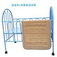 兒童床 嬰兒床鐵床兒童寶寶床bb床新生兒鐵藝床帶蚊帳遊戲多功能睡床JD