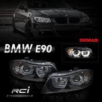SONAR 台灣 BMW E90 E91 U型導光 LED光圈 335 320 魚眼大燈 (限定宅配)