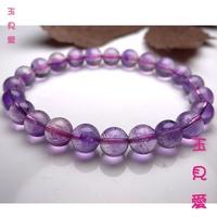 <玉見愛> 天然三輪骨幹紫髮晶手鍊N0.0075