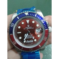 *精品* 勞力士可口可樂版紅水鬼 Rolex 潛航者型系類自動機械手錶 紅水鬼116610LV 日期顯示勞力士手錶