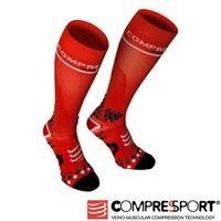 瑞士 Compressport 運動機能 -壓縮長襪(紅)