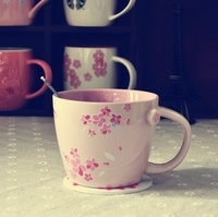 Starbucks STYLE Sakura MUG * with Coaster * limit offer *