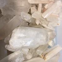 『五行倉庫』天然白水晶柱  白水晶骨幹