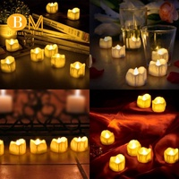 🔥LED candles, LED tealights flameless candles with time