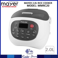 MAYER 2L RICE COOKER * MMRC20 * CERAMIC POT * 1 YEAR WARRANTY * 5 COOKING FUNCTIONS
