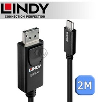 LINDY 林帝 主動式 USB3.1 Type-C to DisplayPort 轉接線 2m (43267)