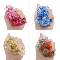 Squishy MultiColor Mesh Stress Relief Toy Ball Squeeze Stressball Party Bag