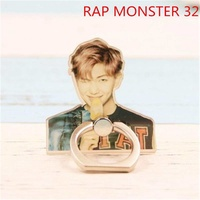 BTS Bangtan Boys RAPMONSTER RAP MONSTER Case 360 Degree Rotation Phone Ring Finger Buckle Stand Holder Cell Mobile Phone Stand Accessories Rings ZHK