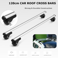 "Pair Universal 48"" 120cm Aero Locking Car Top Cross Bar Roof Rack Cargo Luggage"