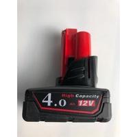 全新美國Milwaukee 米沃奇 12V4.0鋰電池 M12 4.0 4AH鋰電池