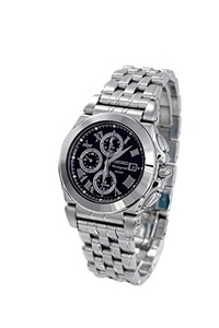 (Seiko Watches) Clock Seiko Seiko Mens Chronograph Stainless Steel Watch SNA525-