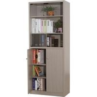 EASY HOME 強化玻璃門六格書櫃-秋香色