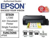 Epson EcoTank L1300 A3 Ink Tank Printer for business - A3 Document Printer (Free 32GB Flash Drive) ** Free $20 NTUC Voucher Till 2nd Mar 2019 **  Epson 1300 L 1300