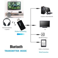 Dcoteres  TX9 Bluetooth 4.0 Audio Music Transmitter USB 3.5mm Male to Male for TV DVD MP3