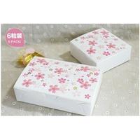 【嚴選SHOP】6粒櫻花月餅盒 紙盒 80g月餅盒 糖果盒 巧克力盒 餅乾盒 蛋黃酥盒 派盒【C066】