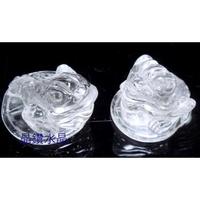 『晶鑽水晶』白水晶*精緻雕刻*三角蟾蜍(咬錢蟾蜍)~送禮自用兩相宜