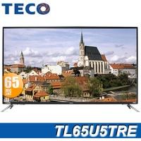 TECO東元 65吋 4K 智慧連網顯示器+視訊盒(TL65U5TRE)*OVO藍芽耳機+Tescom輕量型負離子吹風機