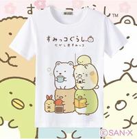 T恤 角落生物T恤二次元動漫周邊童裝可愛貓咪白熊企鵝炸豬排短袖衣服 韓衣館