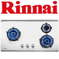 RINNAI RB-93TS 3-BURNER STAINLESS STEEL HOB