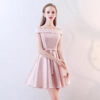 洋裝伴娘服新款夏季顯瘦粉色伴娘團洋裝小禮服短款仙氣質中國風女 阿薩布魯