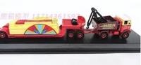 合金工程車模型木材運輸車拖掛車  1入