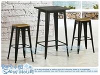 ╭☆雪之屋居家生活館☆╯R891-04 工業風高腳椅(黑色鐵腳+淺坐板面)/造型椅/餐椅/會客椅/不含桌子/單張椅子