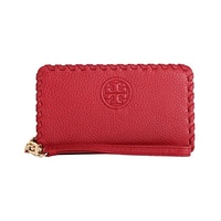 (Tory Burch) Tory Burch Marion Smartphone Leather Wristlet Wallet Style NO. 40855 (Redstone)-