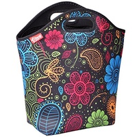[USA Shipping] yookee home Large Neoprene Lunch Bag for Women, Fashionable Adult Lunch Box Thick Wat