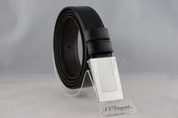 S.T. Dupont  都彭 方型格紋扣式雙面皮帶