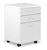 Amercis 3-Drawer Mobile Pedestal for Home and Office Use (White)
