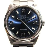 Auth ROLEX 勞力士 Air-king Wrist 手錶 14000 藍色 Stainless Steel Automatic For Men's | BRANDOFF 柏歐福 BRANDOFF