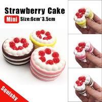Mini squishies Strawberry Cake Stress Reliever Squishy Slow Rising Cream Scented Decompression Cure Toy Squeeze antistress toys