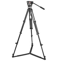 Sachtler 1002 Ace M GS System with Ace M Fluid Head, Tripod, On-Ground Spreader SP 75, Bag, Camera Mounting Plate, Pan Bar - intl