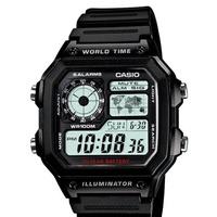 CASIO 十年電力運動時尚數位腕錶/AE-1200WH-1AVDF