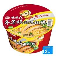 味丹味味A冬菜鴨肉冬粉60g*12碗(箱)【愛買】