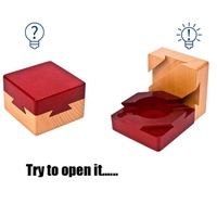 Puzzle Wooden Secret Box Compartment Hidden Diamond Gift Surprise Brain Teaser