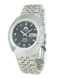 Orient 3 Stars Men's Silver Stainless Steel Strap Watch EM70005B