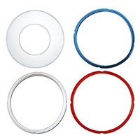 Instant Pot Silicone Lid Cover and Sealing Ring - Instant Pot Accessories Fits 5 or 6 Quart Models, Red, Blue and Common Transparent White For 6 qt (Lid Cover and Sealing Ring) - intl