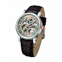 ARBUTUS CLASSIC SKELETON AUTOMATIC AR911SFF STAINLESS STEEL SILVER MENS WATCH
