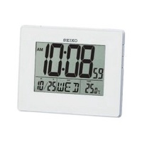 Seiko QHL057W Digital LCD Wall and Desk Clock