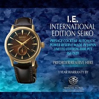 SEIKO INTERNATIONAL EDITION PRESAGE AUTOMATIC COCKTAIL TIME POWER RESERVE INDICATOR LIMITED EDITION 8000PCS SSA392J1 DARK BROWN